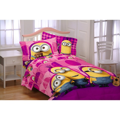 Minions Bedding Set Comforter Cover Shoes Bed Girl Twin